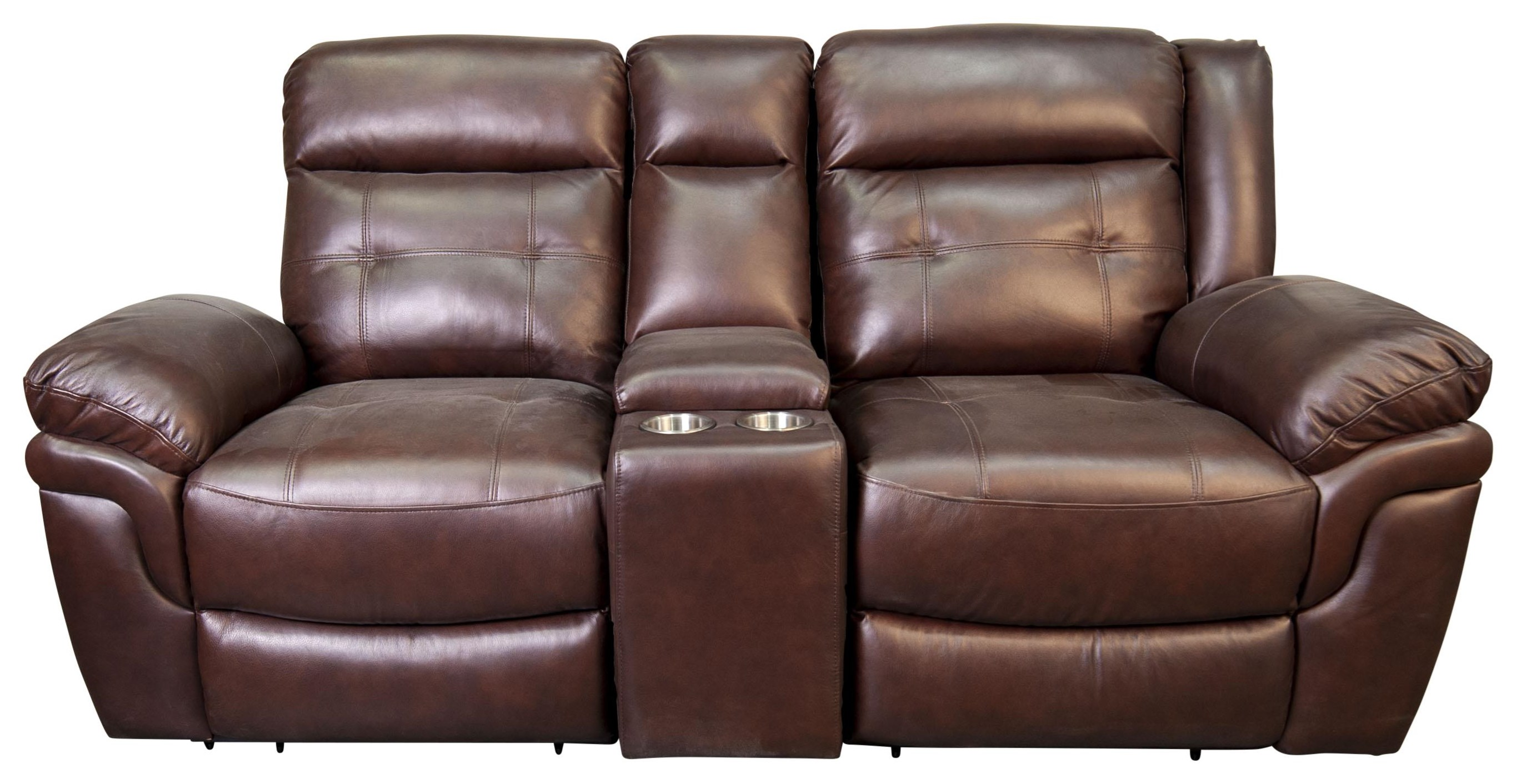 Henson Leather Match Reclining Loveseat