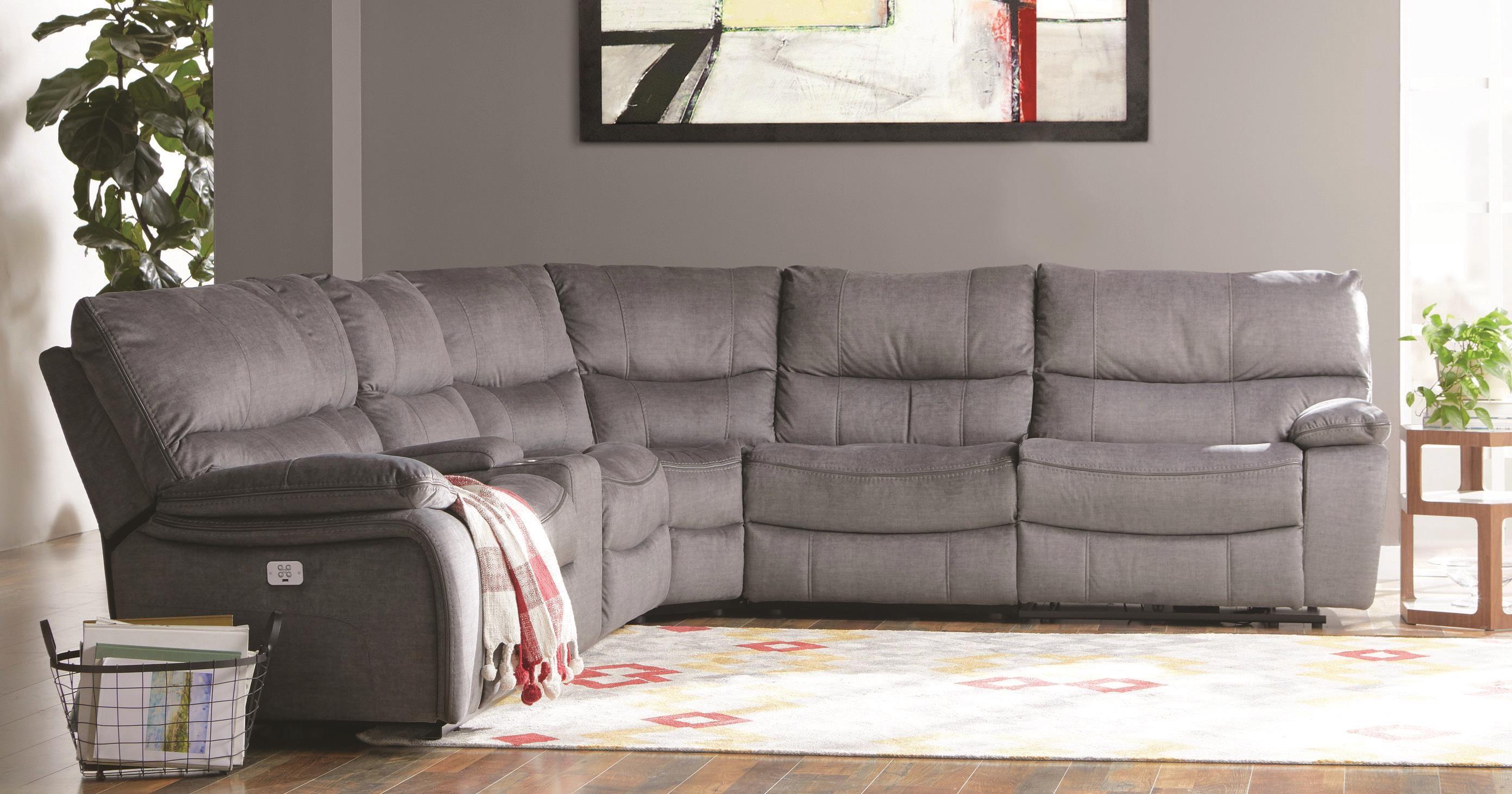Lambert Power Sectional Sofa w/ Power Headre