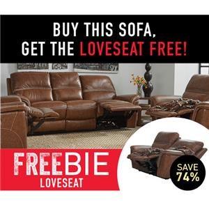 Nevill Reclining Sofa with Freebie!