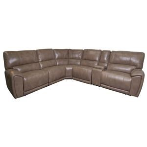 Owen Leather Match Power Sectional