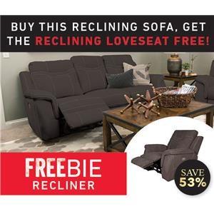 Pratt Reclining Sofa with Freebie Loveseat