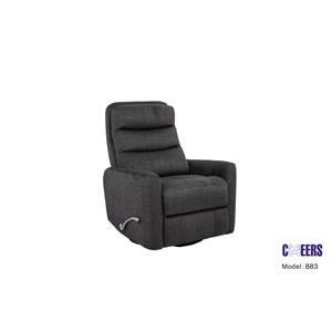 Swivel Glider Recliner w/ Adjustable Head Rest and Wide Seat