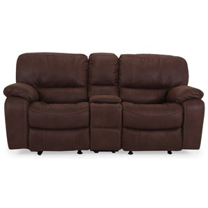 Cheers UX8625M Glider Reclining Loveseat with Console