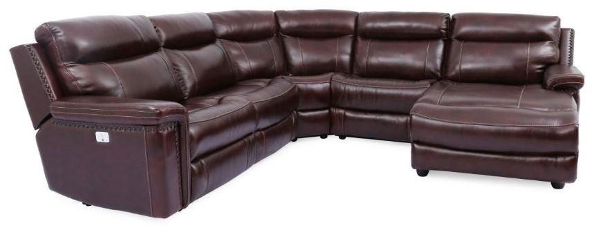 Morris Home Mckenzie Mckenzie Power Sectional Sofa - Item Number: 087543770