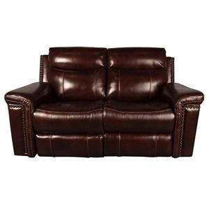 Morris Home Mckenzie Mckenzie Leather Match Power Loveseat with P