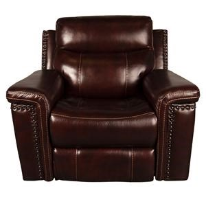 Morris Home Mckenzie Mckenzie Leather Match Power Recliner
