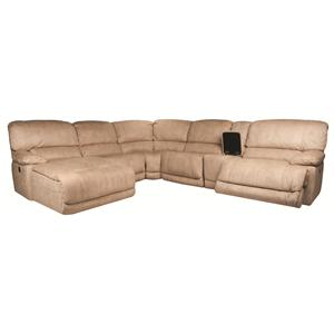 Morris Home Furnishings Sandra Sandra 6-Piece Power Reclining Sectional