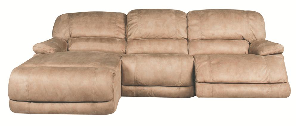 Morris Home Sandra Sandra 3-Piece Power Reclining Sectional - Item Number: 134867053