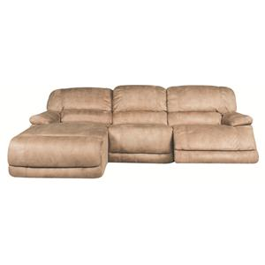 Morris Home Sandra Sandra 3-Piece Power Reclining Sectional
