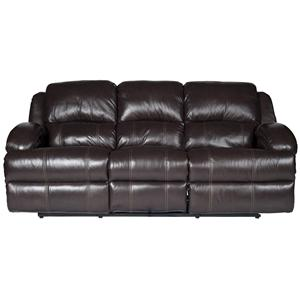 Morris Home Furnishings Jamar Jamar Power Leather-Match* Reclining Sofa