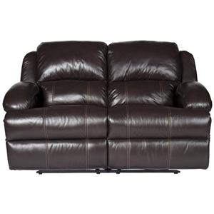 Morris Home Furnishings Jamar Jamar Pwr Leather-Match* Recl Loveseat