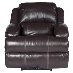 Morris Home Furnishings Jamar Jamar Power Leather-Match* Recliner