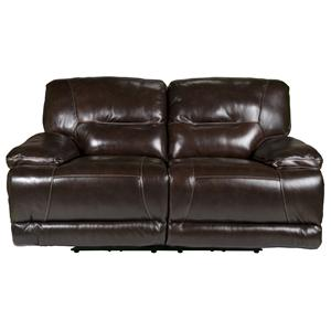 Morris Home Furnishings Vance Vance PWR Leather-Match* Reclining Loveseat