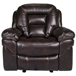 Morris Home Furnishings Derek Derek Leath-aire Glider Recliner