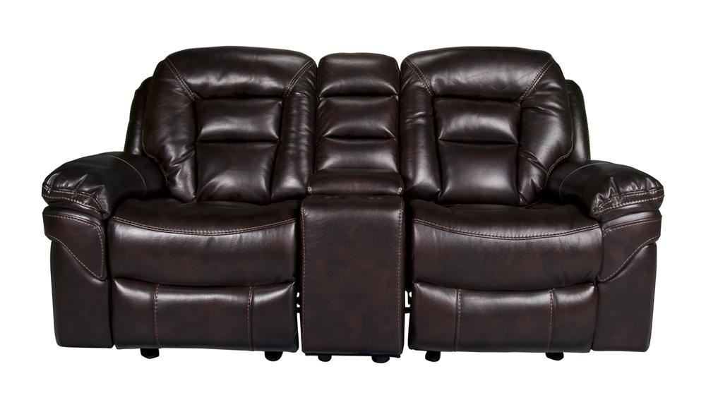 Morris Home Furnishings Derek Derek 3-Piece Leath-aire Reclining Loveseat - Item Number: 147823707
