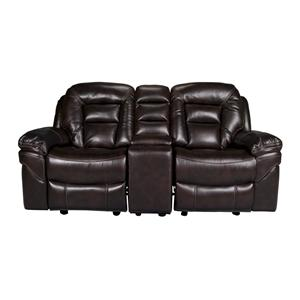 Morris Home Derek Derek 3-Piece Leath-aire Reclining Loveseat