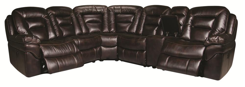 Morris Home Furnishings Derek Derek 6-Piece Power Reclining Sectional - Item Number: 148823708