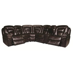 Morris Home Furnishings Derek Derek 6-Piece Power Reclining Sectional