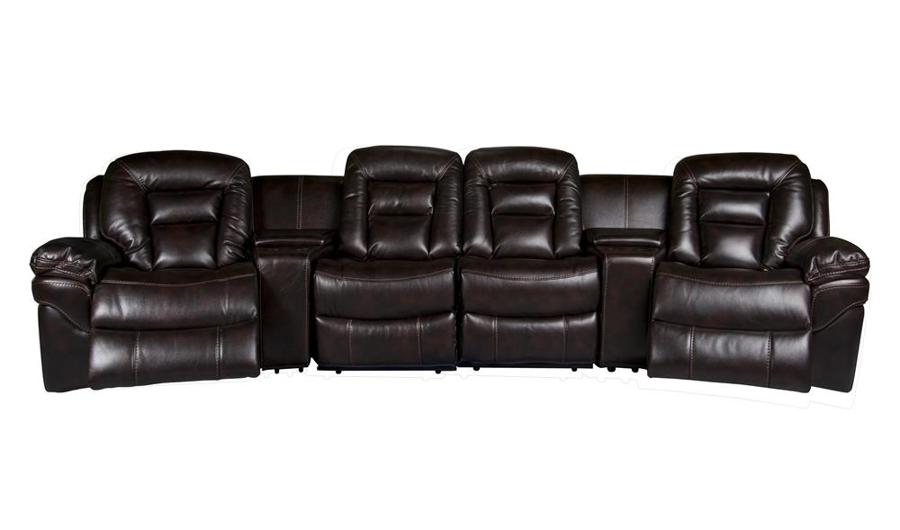 Morris Home Furnishings Derek Derek 6-Piece Power Reclining Sectional - Item Number: 148823788