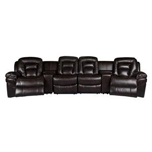 Morris Home Derek Derek 6-Piece Power Reclining Sectional