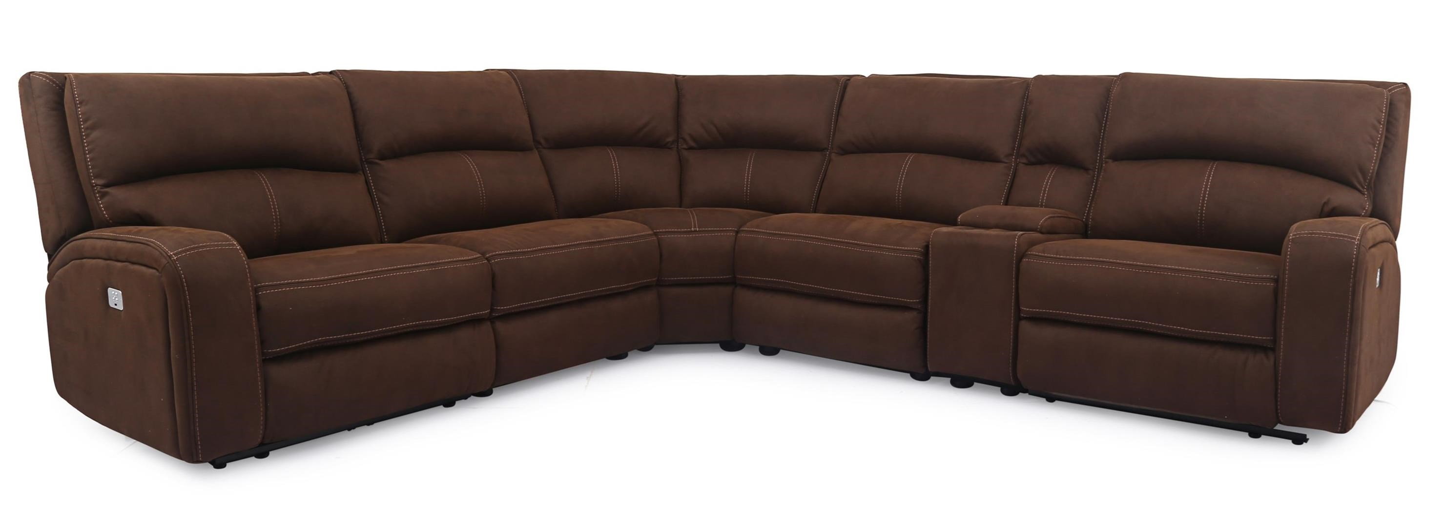 Cheers Sofa 5168HM Power Sectional - Item Number: 5168HM-AL15+D15+C+D15+HCE+AR15 370