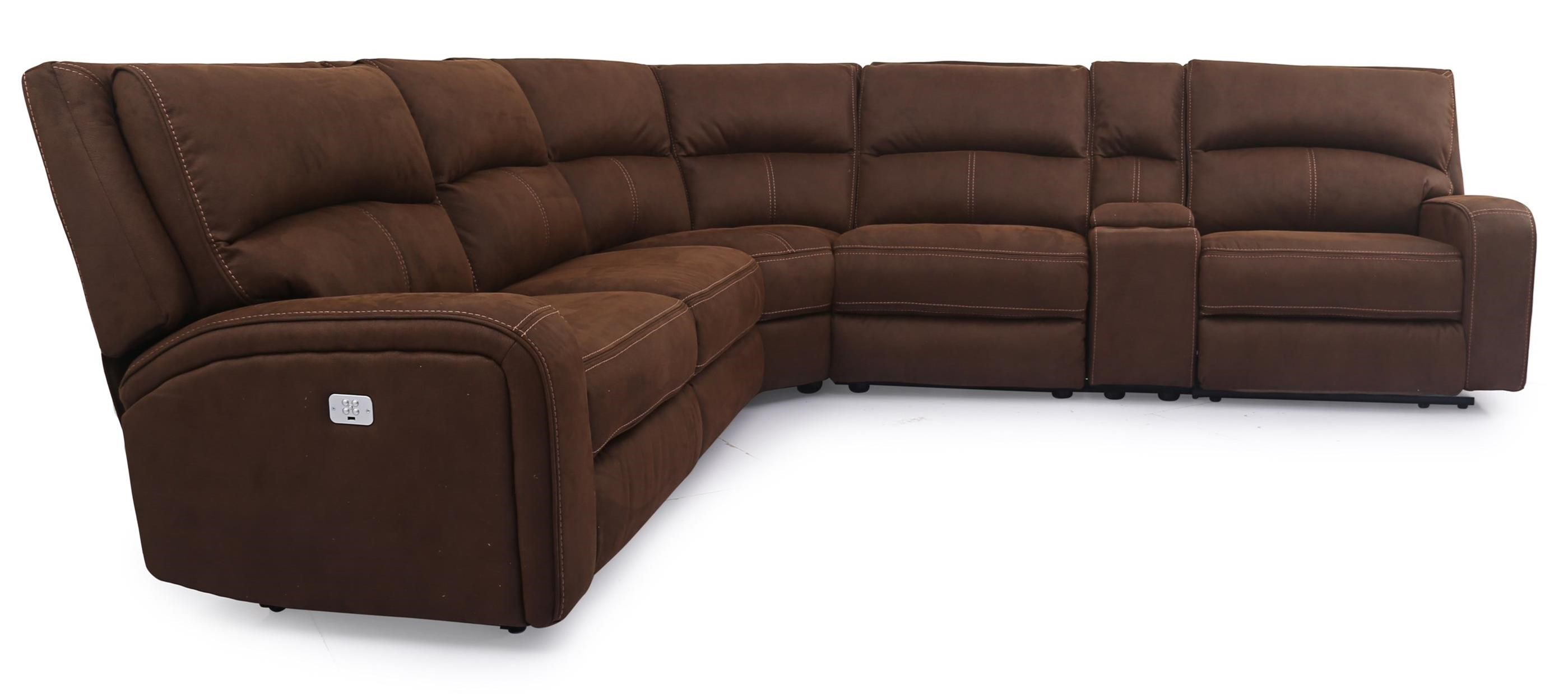 Cheers 5168hm Power Reclining Sectional With Power