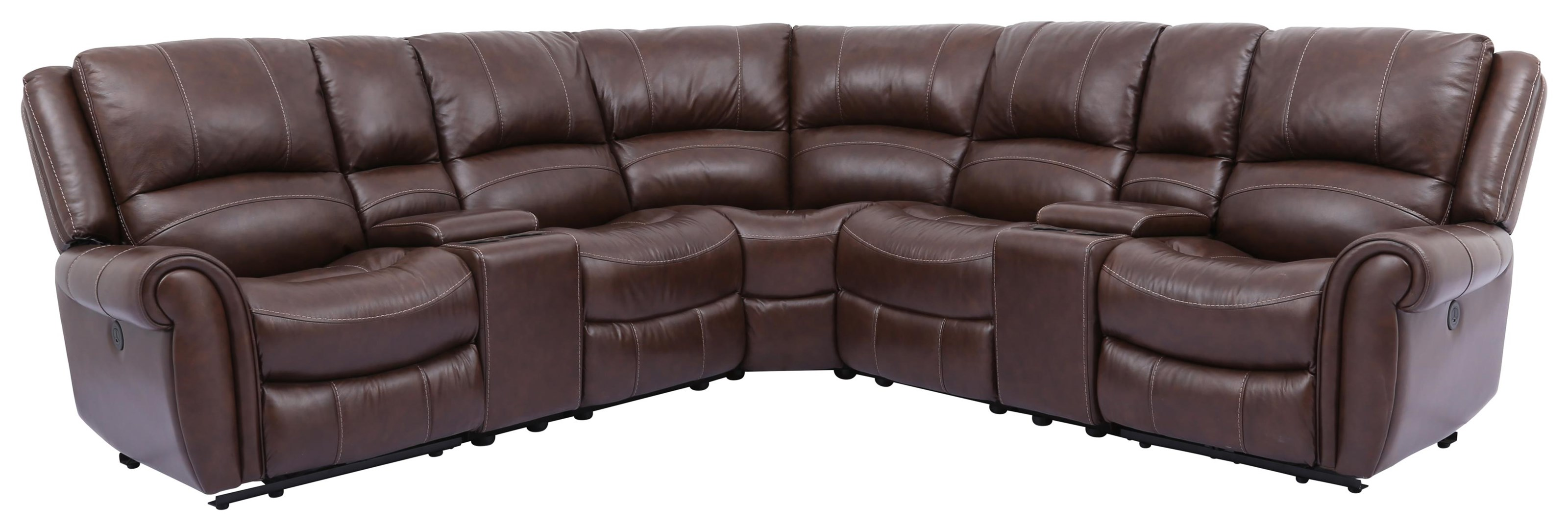 Cheers Sofa 5705 7 Piece Power Reclining Sectional - Item Number: 5705 7PCPWR