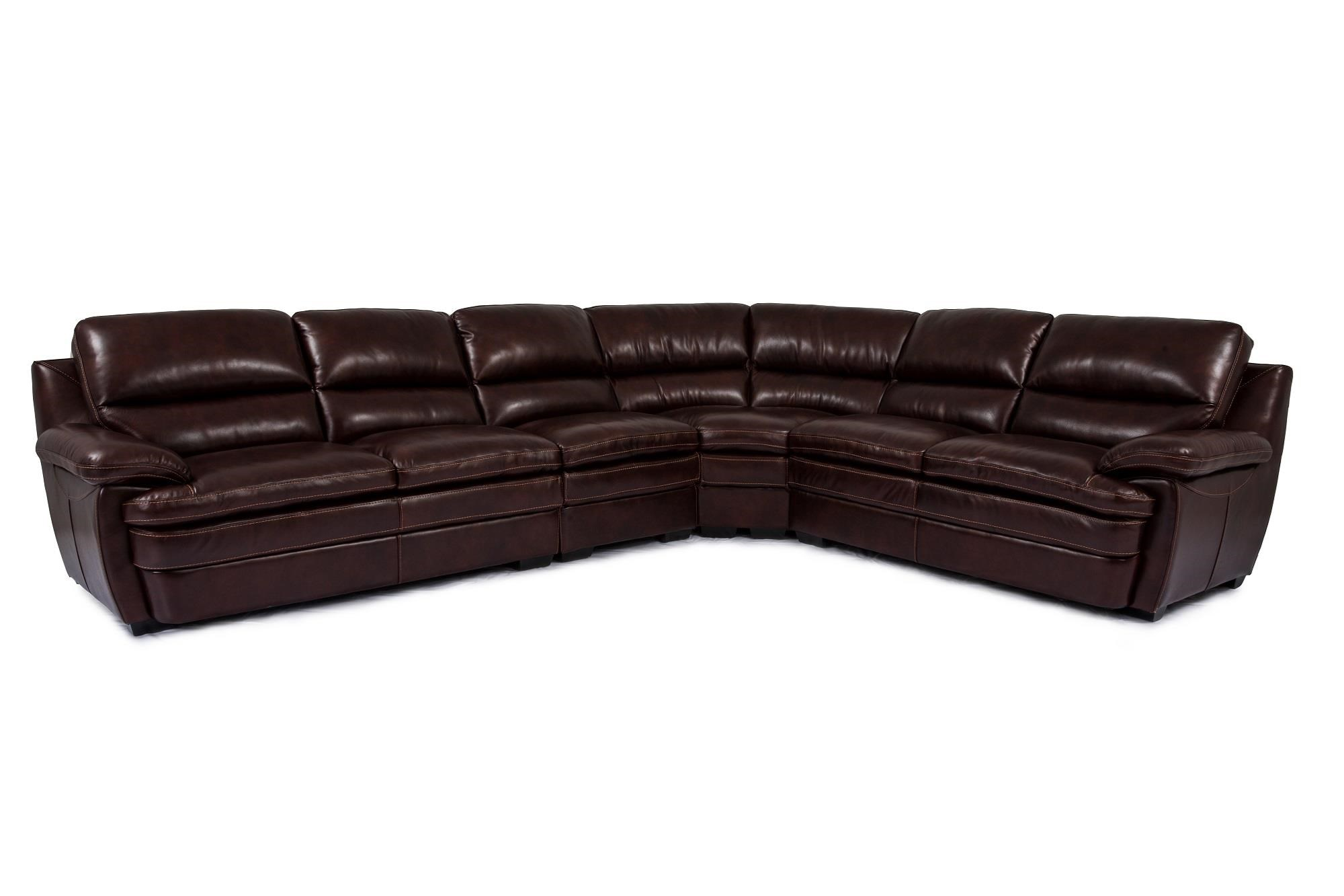 Cheers Sofa Trent Leather 3 Piece Sectional - Item Number: 8335-AL2+AR2+C