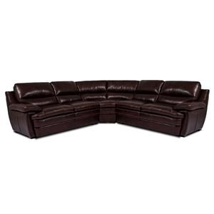 Cheers Sofa Trent Leather 3 Piece Sectional