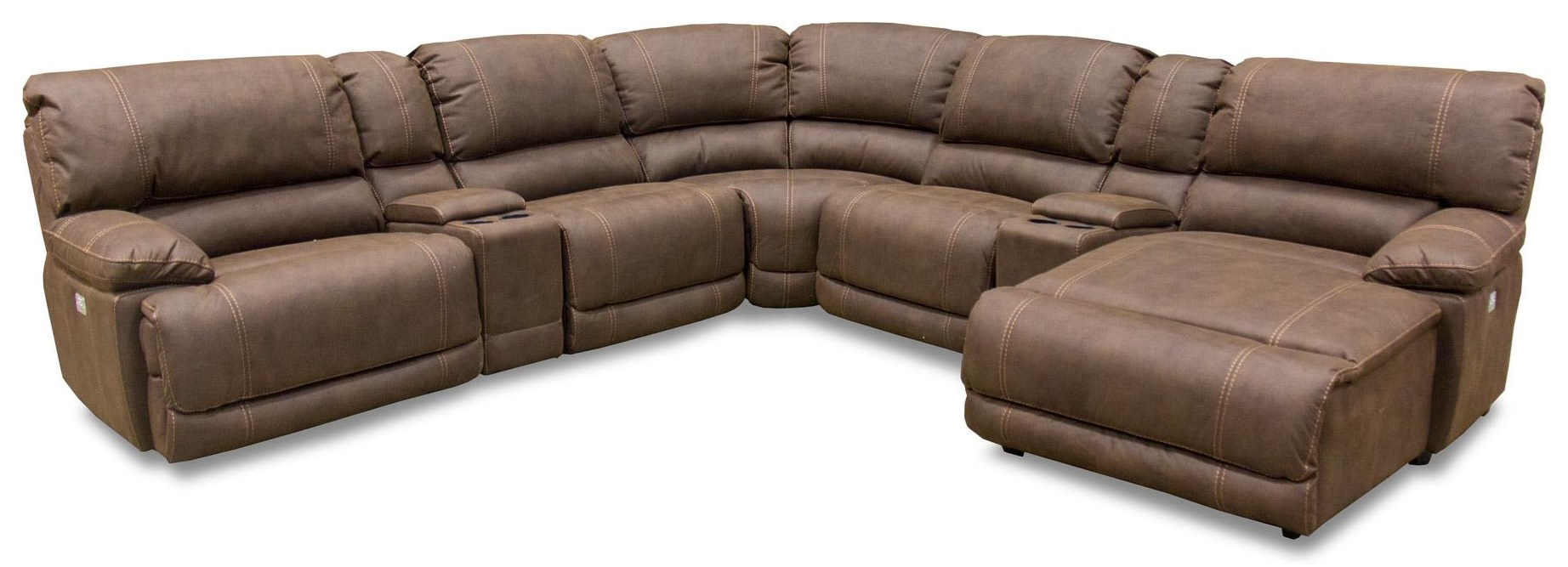 7 Piece Sectional w/Pwr Reclining Head & Foo