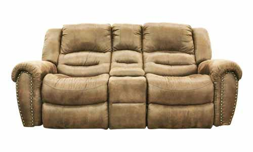 Cheers Sofa 8295 Microfiber Reclining Loveseat with Console - Item Number: XW8295-L2-2K+HC 813
