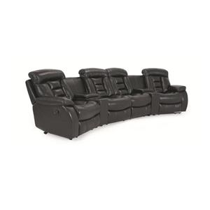 Cheers Sofa Leathaire Leathaire 6pc Theater Seating
