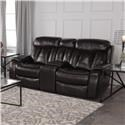 Cheers Pearce Leather Reclining Loveseat with Console - Item Number: 9528-2546-HC+LAF+RAF