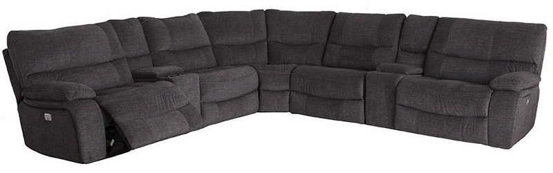 Cheers Sofa 9706 7 Piece Power Reclining Sectional - Item Number: X9706HM-AL+HCE+D+C+DE+HCE+AR 30470