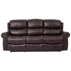 Cheers Piedmont Leather Dual Reclining Sofa