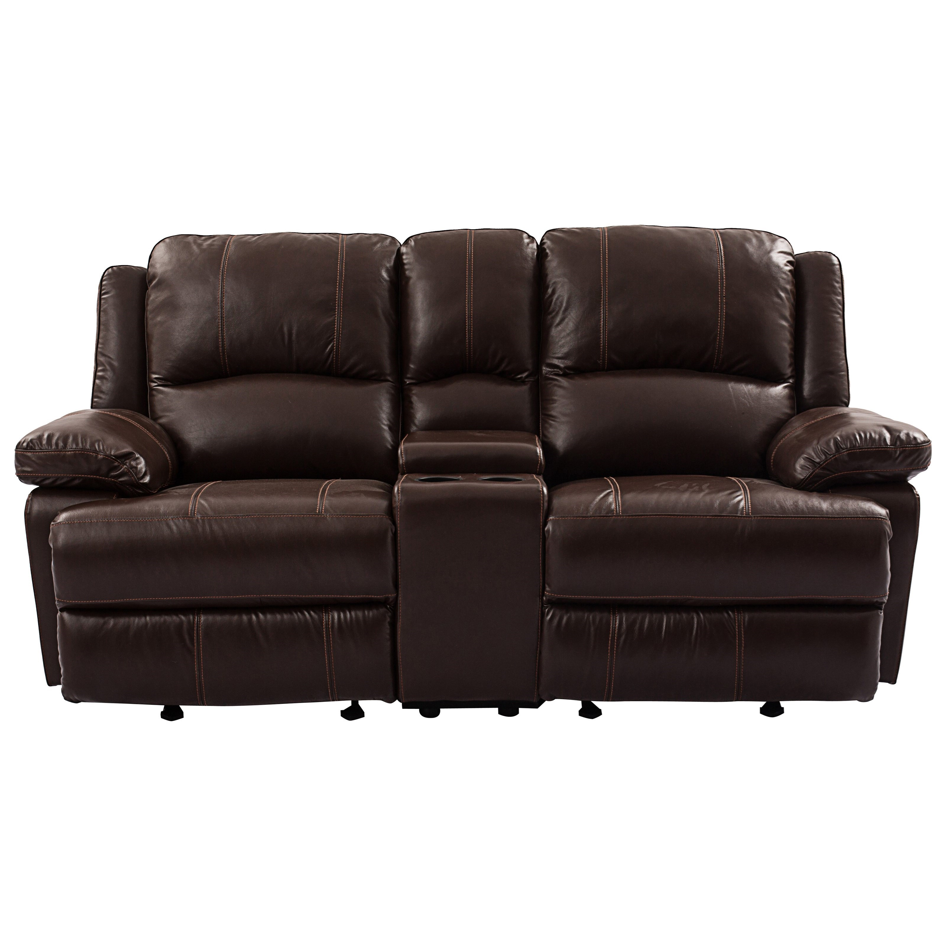 Cheers Sofa 9863 Reclining Loveseat with Console Royal Furniture