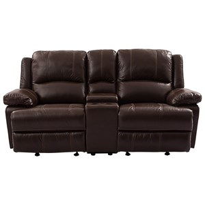 Cheers Sofa 9863 Reclining Loveseat with Console