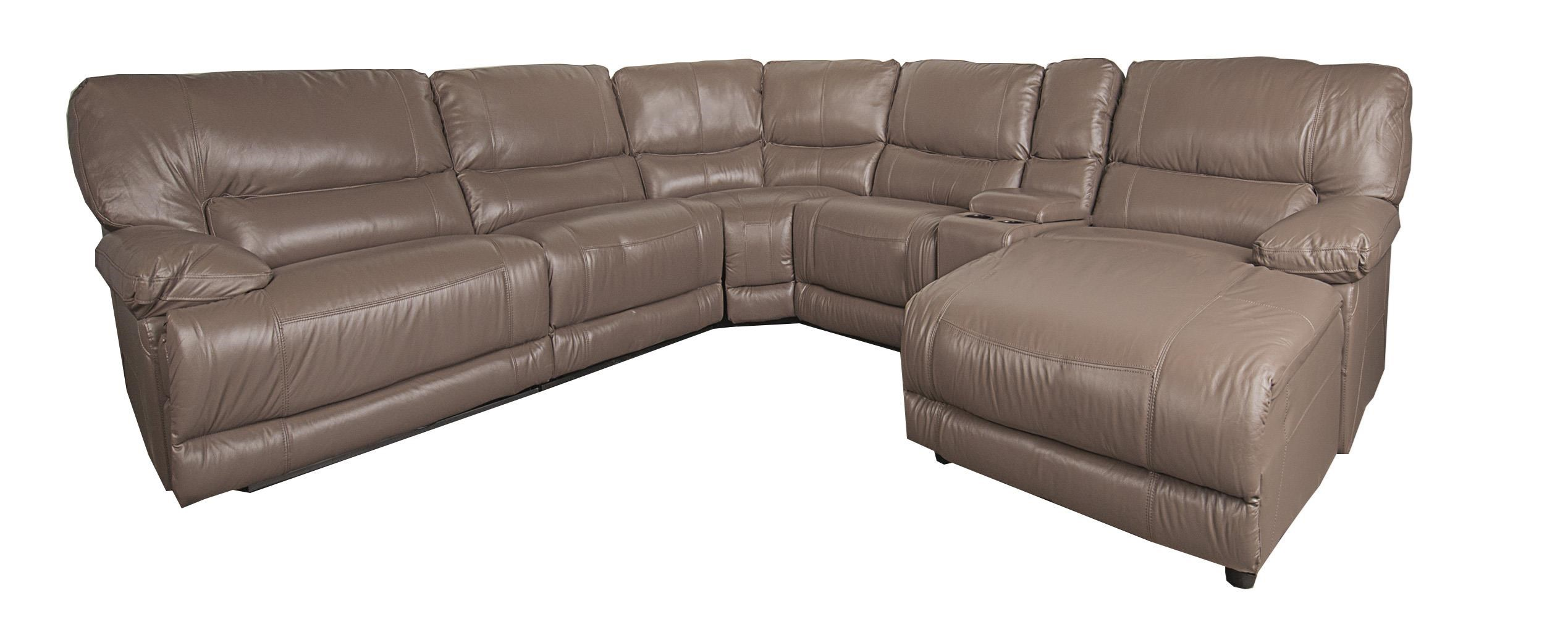 Morris Home Baylor Baylor 6-Piece Leather-Match* PWR Reclining - Item Number: 134129263