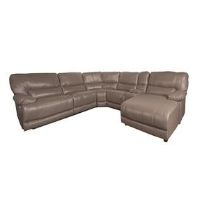 Morris Home Baylor Baylor 6-Piece Leather-Match* PWR Reclining
