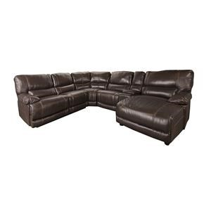 Morris Home Baylor- Baylor 6-Piece Leather-Match* PWR Reclining