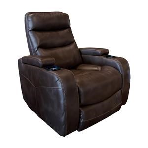 Cheers Sofa Recliners Brown Power Recliner with Lights