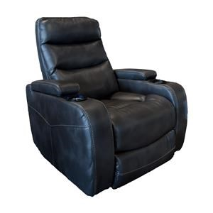 Cheers Sofa Recliners Charcoal Power Recliner with Lights
