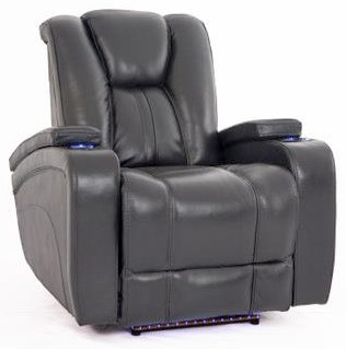 Cheers Sofa Recliners Charcoal Recliner w/Pwr Head & Foot Rests - Item Number: KX928M-L1-1E-L 35748