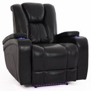 Black Recliner w/Pwr Head & Foot Rests