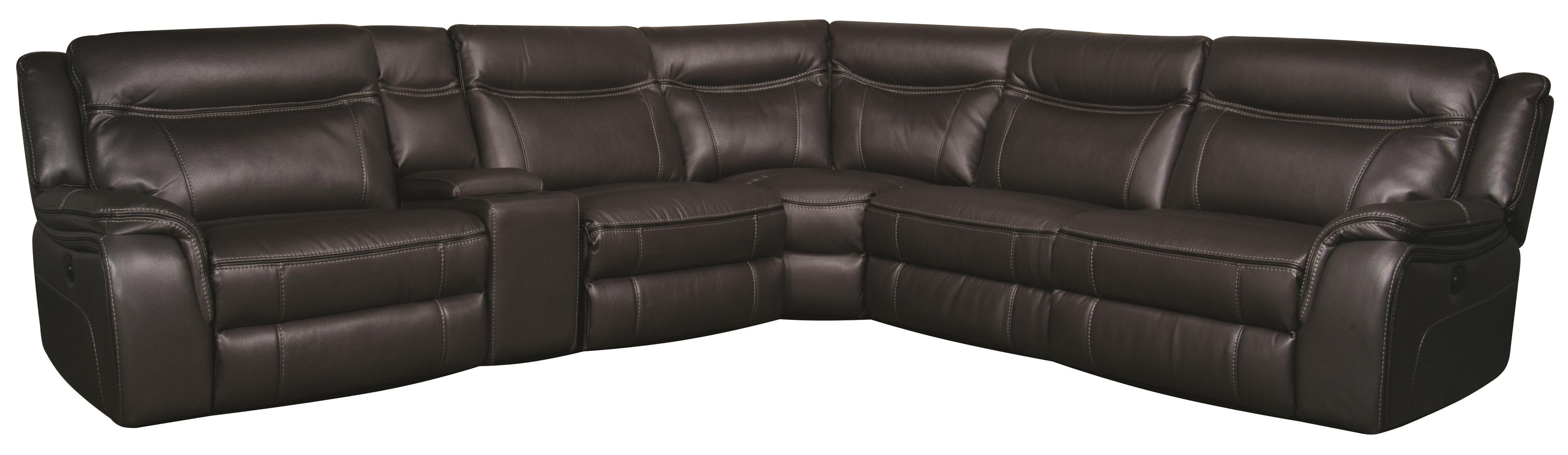 Morris Home Furnishings Curtis Curtis 6-Piece Power Sectional - Item Number: 134829401