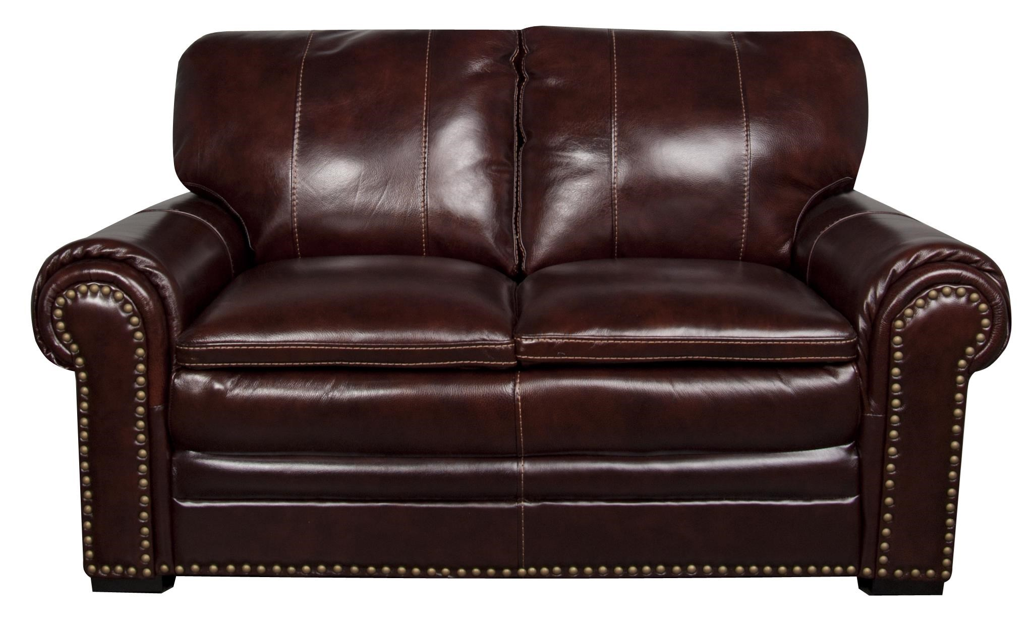 Morris Home Furnishings Elwood Elwood Leather-Match* loveseat - Item Number: 168318979