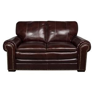 Morris Home Furnishings Elwood Elwood Leather-Match* loveseat