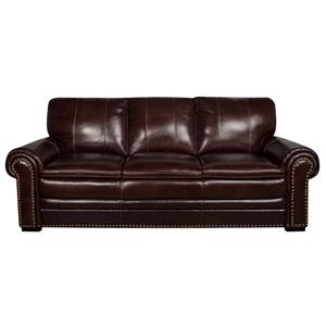 Morris Home Elwood Elwood Leather Match Sofa