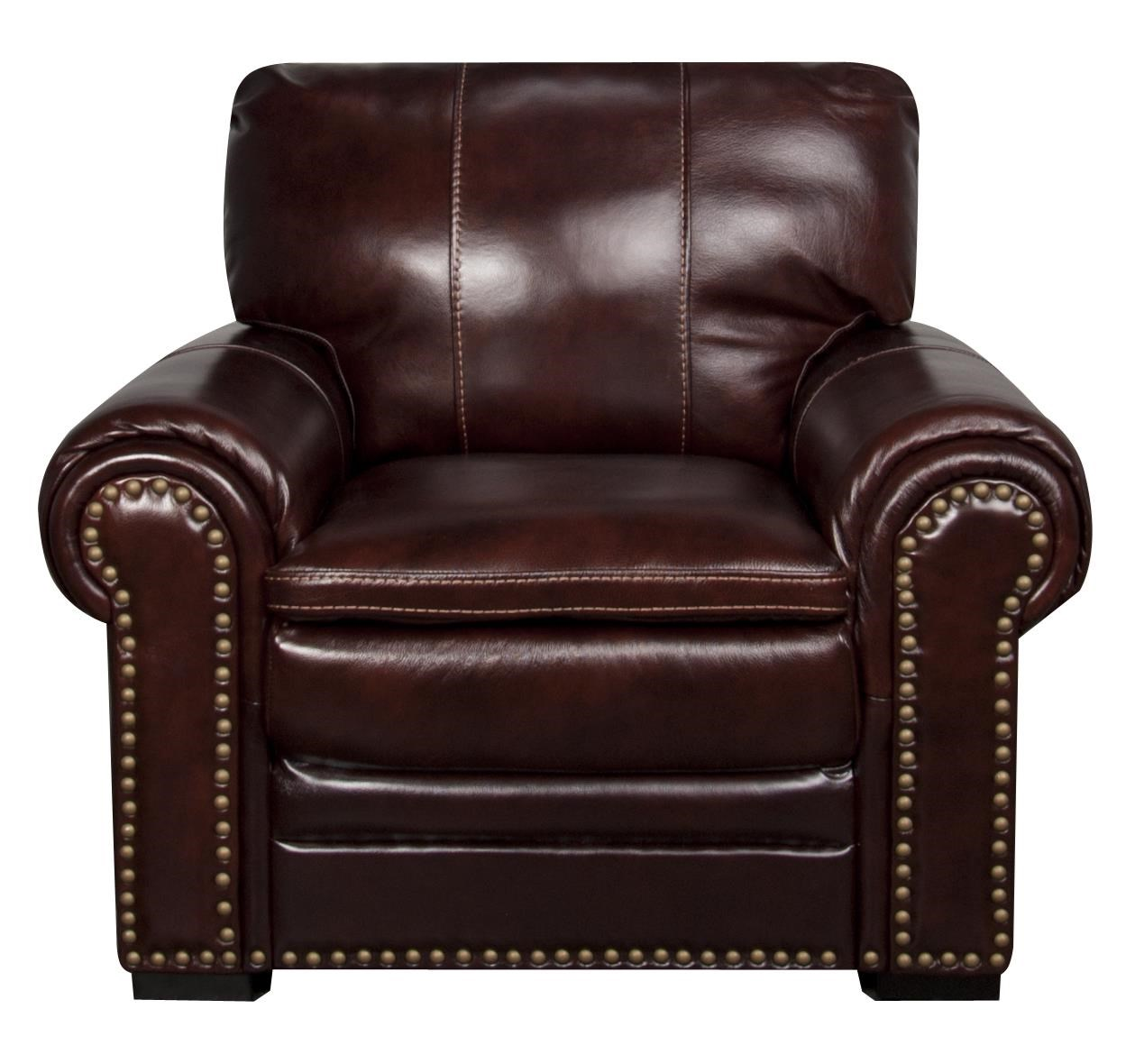 Morris Home Furnishings Elwood Elwood Leather-Match* Leather Chair - Item Number: 658300800