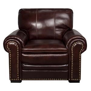 Morris Home Furnishings Elwood Elwood Leather-Match* Leather Chair